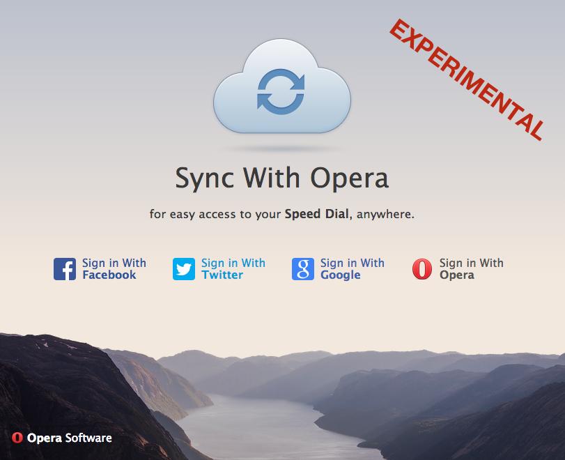 Synchronize Opera