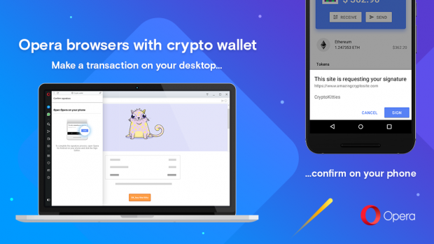 Opera Labs version with crypto wallet