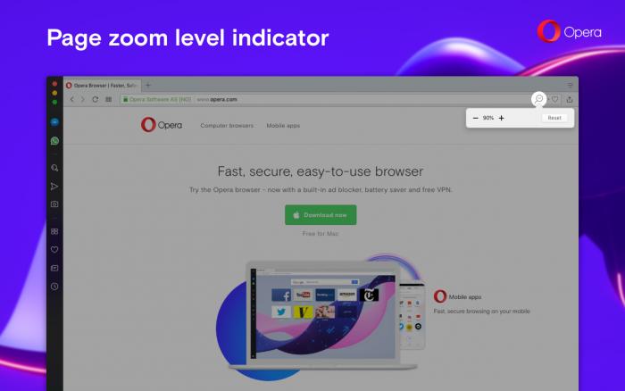 Zoom level indicator