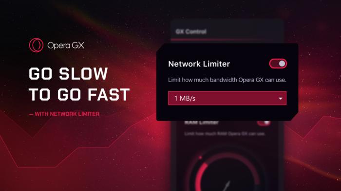 Opera GX introduces Network Limiter.