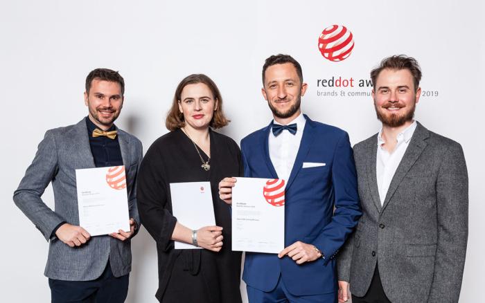 Opera GX team receives the Red Dot award
