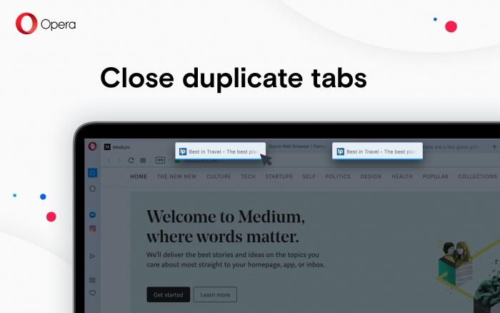 Close duplicate tabs