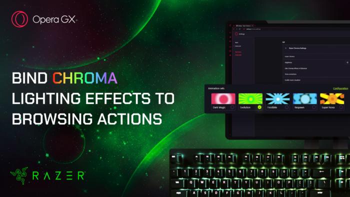 Opera GX with Razer Chroma RGB Lighting Effects