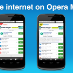 Freecharge sponsored free internet on Opera Mini