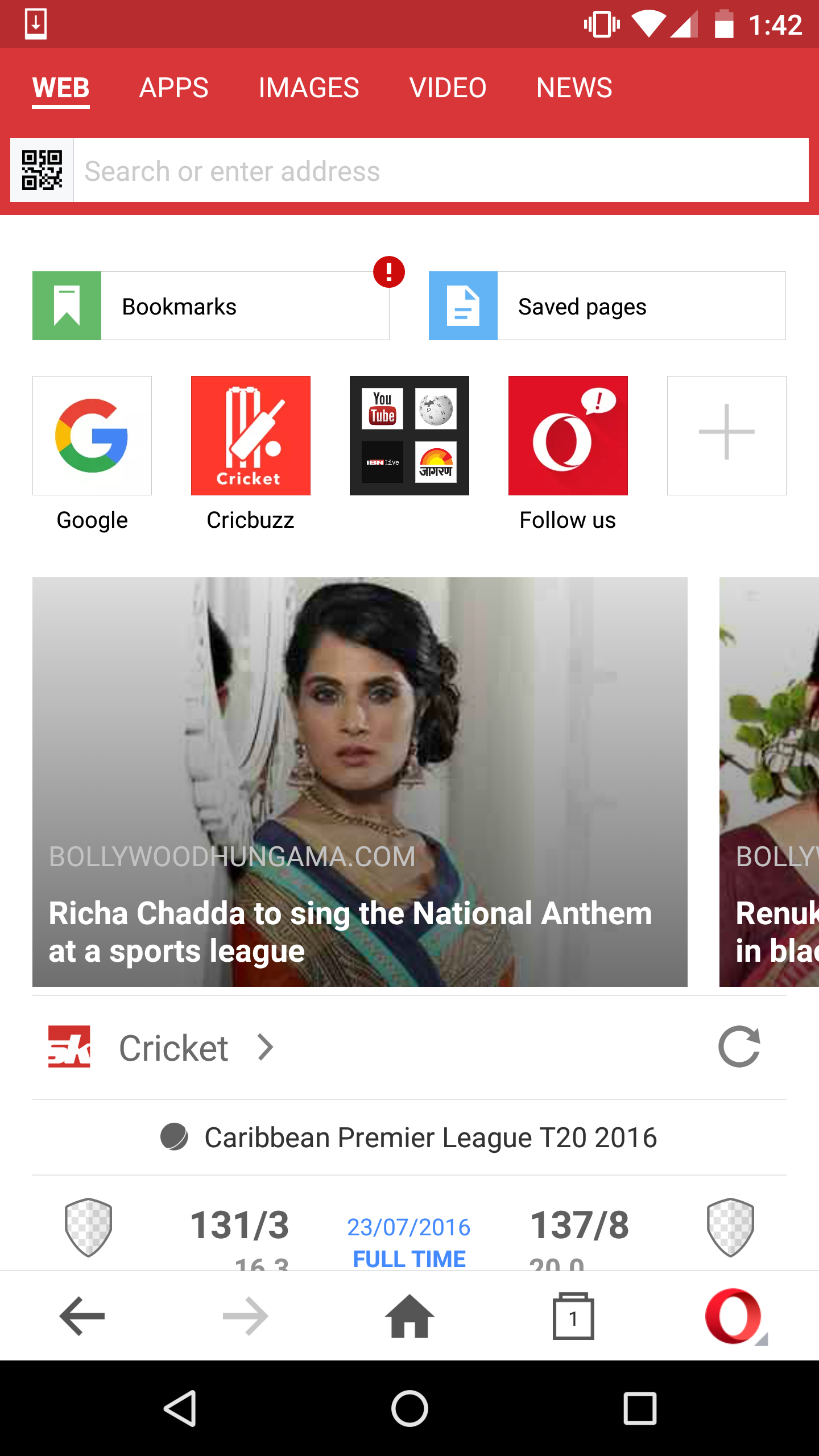Bollywood news and free video download on Opera Mini