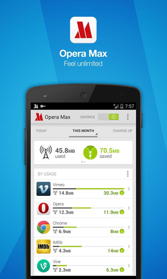 Opera Max data saving