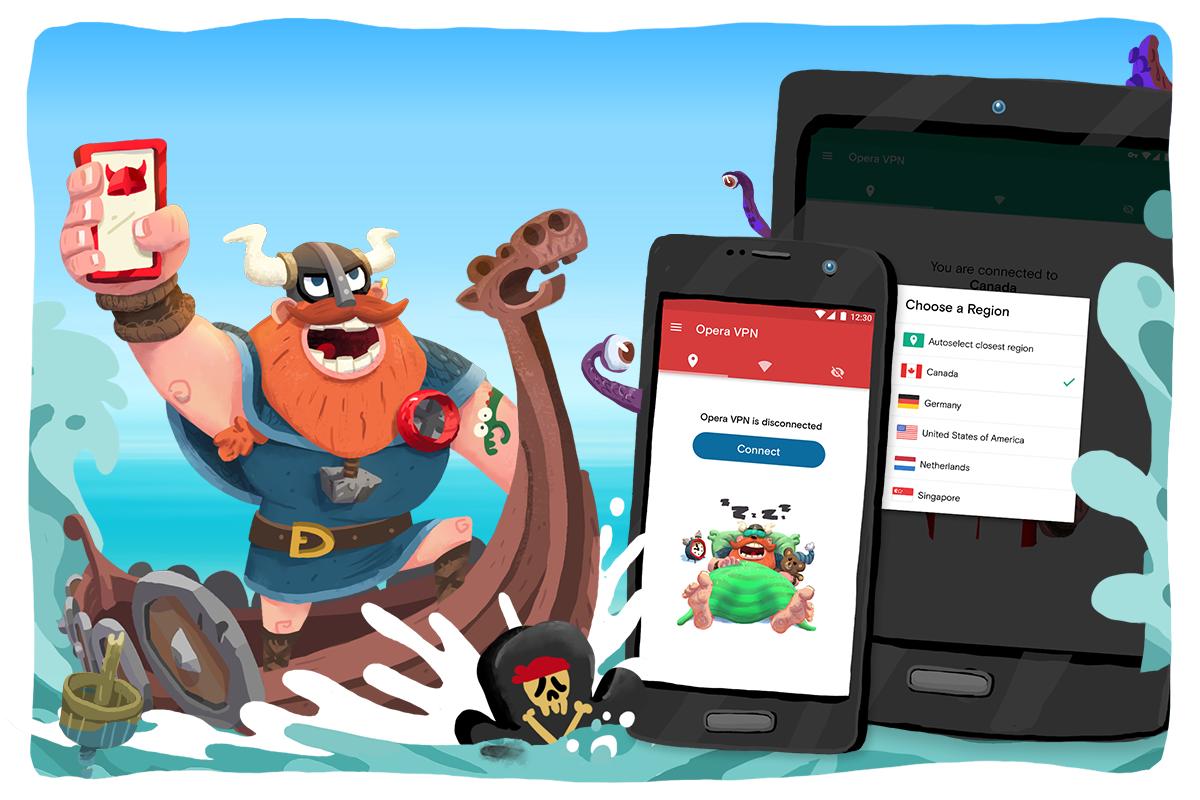 Opera VPN - VPN gratis untuk Android