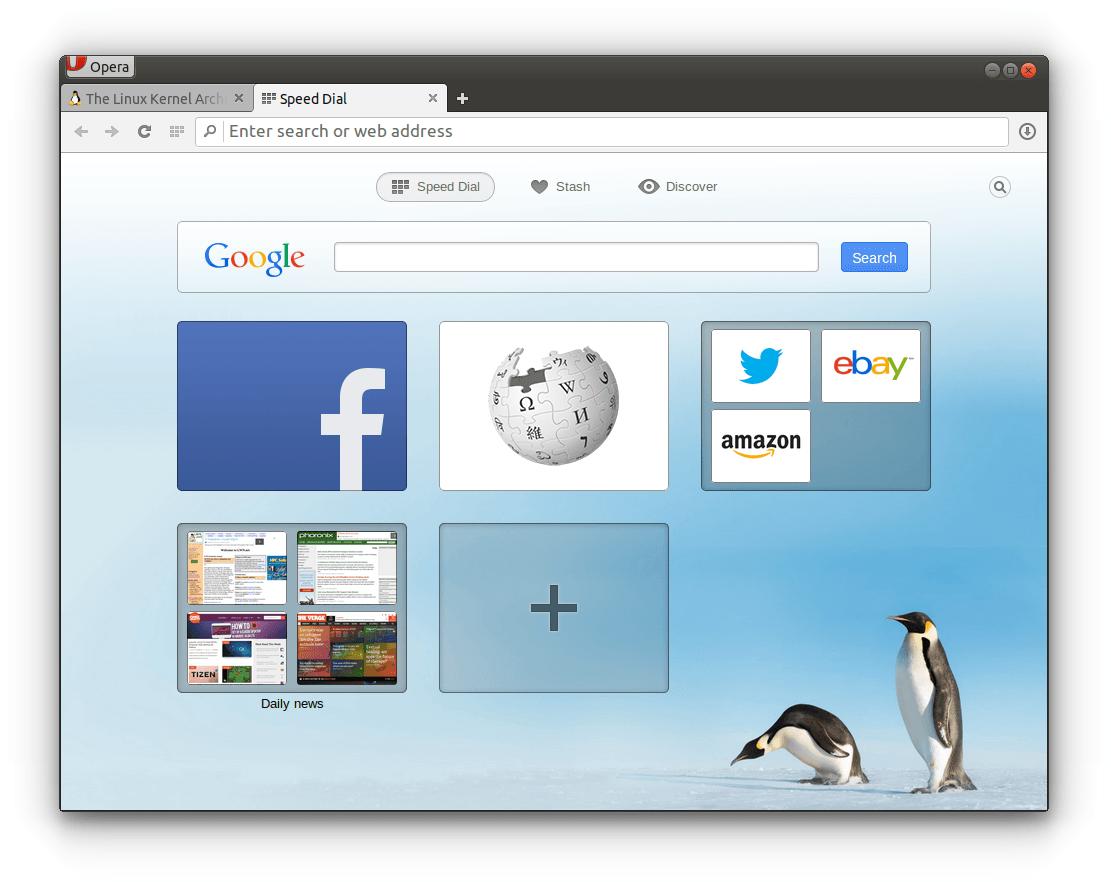 Opera for Linux Desktop