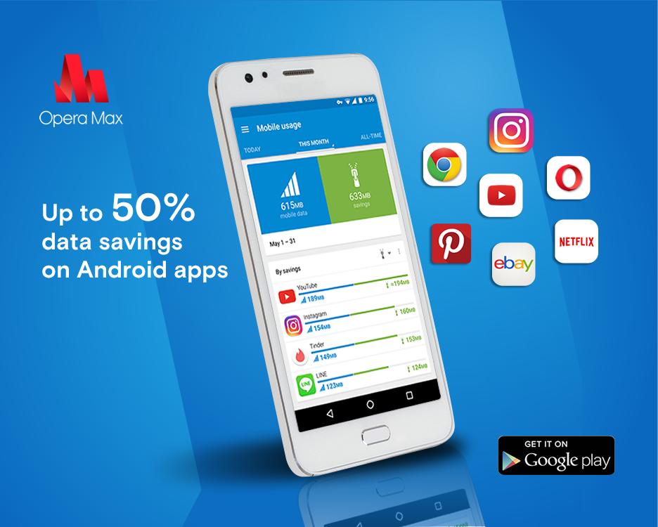 imagen: ahorro de datos en android nougat con Opera Max