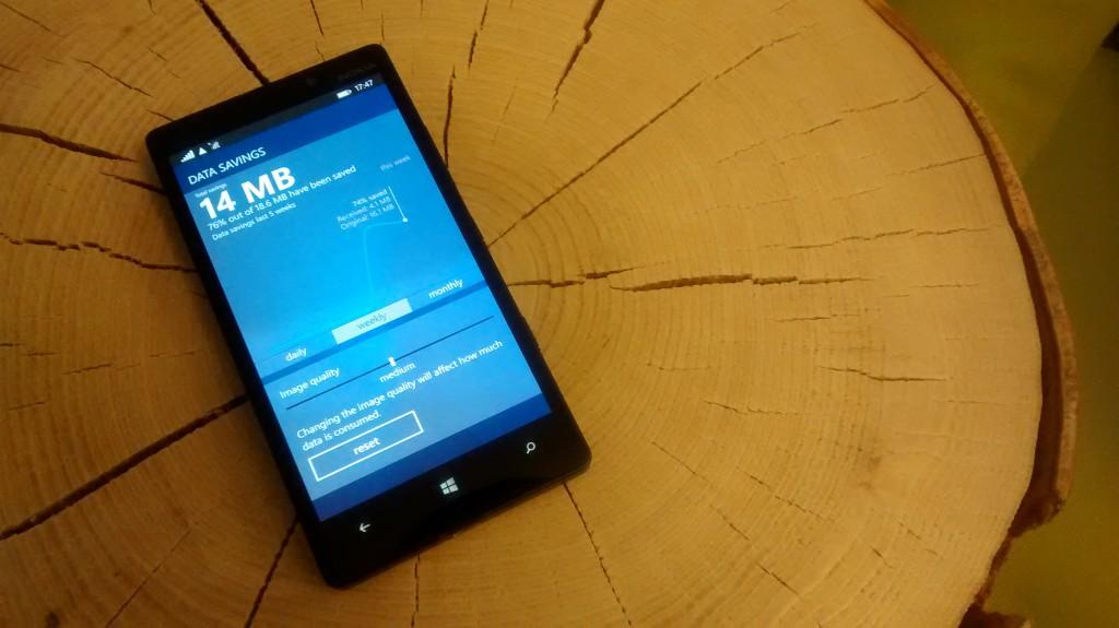 opera mini beta windows phone UI interface datasave