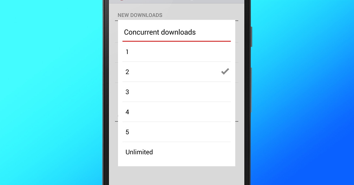 Opera Mini Android Concurrent Download Settings Control