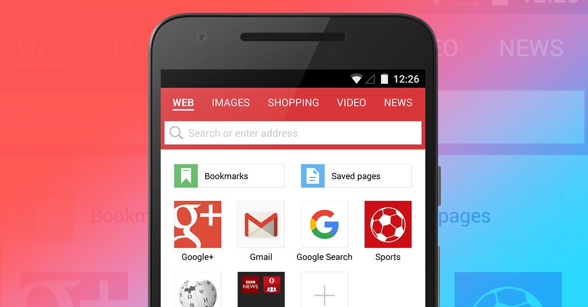 Opera Mini Android Search Google New Address Bar