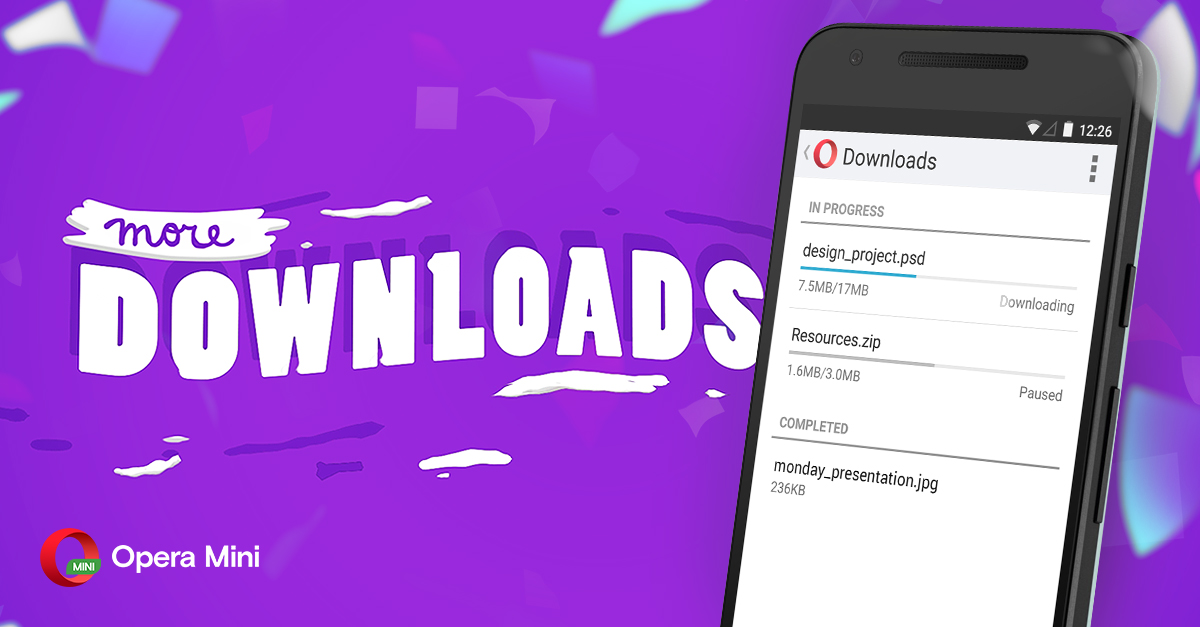 Opera Mini Android downloads tips faster better browser