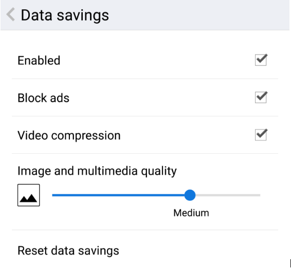 Opera for Android ad blocker