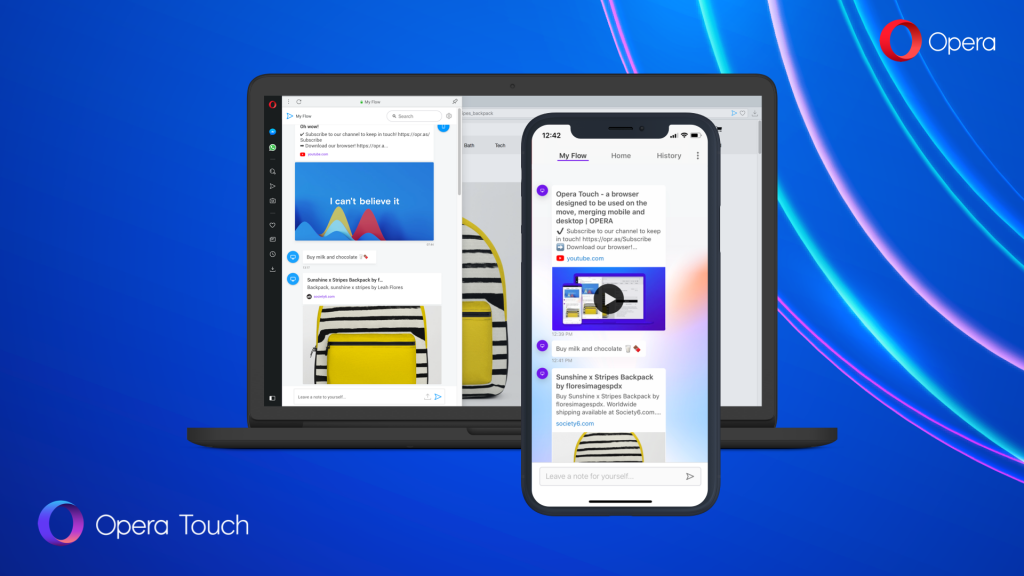 Opera Touch - Flow on PC and iPhone