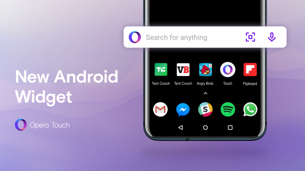 Opera Touch Android widget