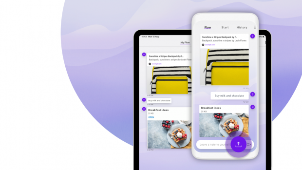 Opera Touch lets you easily share files between devices