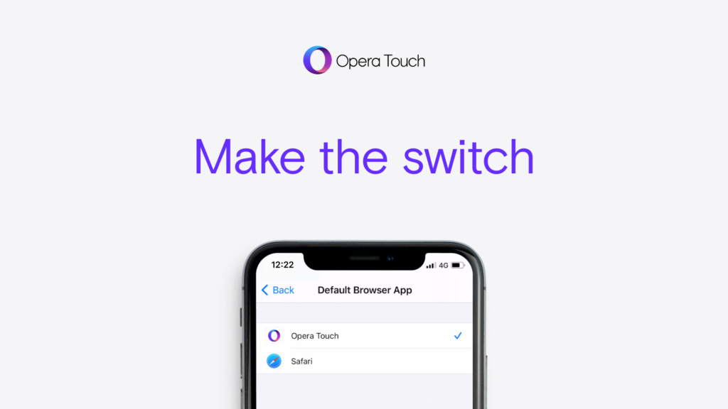 Make Opera Touch default on iOS