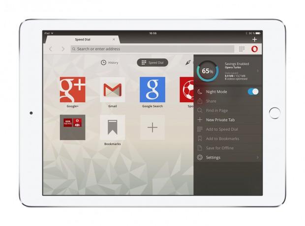 Opera Mini for iOS nightmode