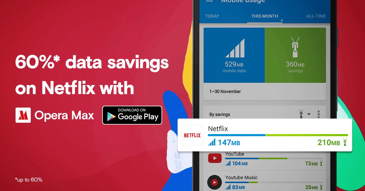 Opera Max で最大 60% データを節約