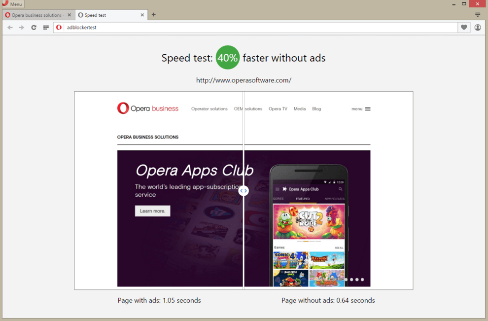 Opera developer adblocking 比較
