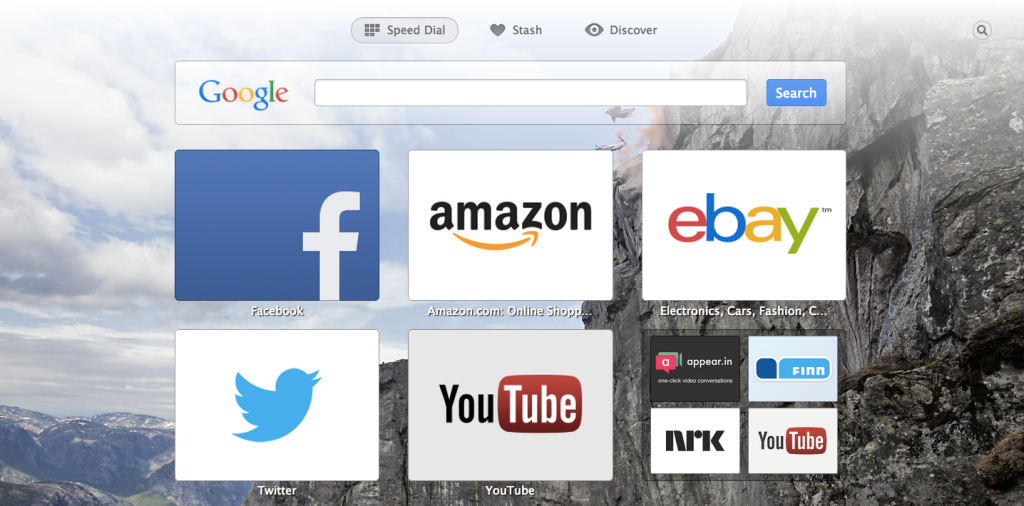 Personalize Opera by changing browser themes