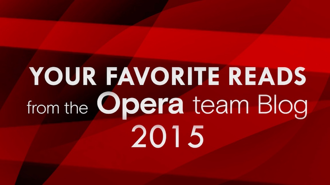 Thumbnail for 'Your favorite reads from the Opera team blog'