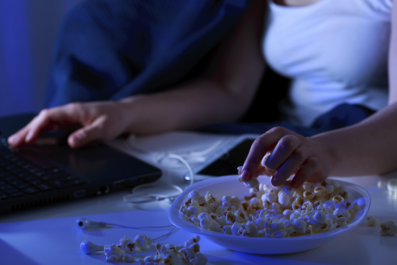 Image: Women watching YouTube videos