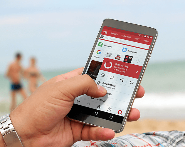 Android travel apps with Opera Mini