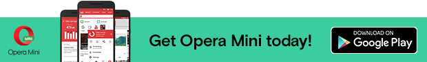 Get opera mini today banner