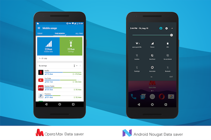 Opera Max Data Saver vs Android Nougat Data Saver
