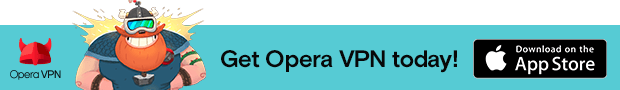 Link to get Opera VPN, free and unlimited VPN app for iOs, in AppStore
