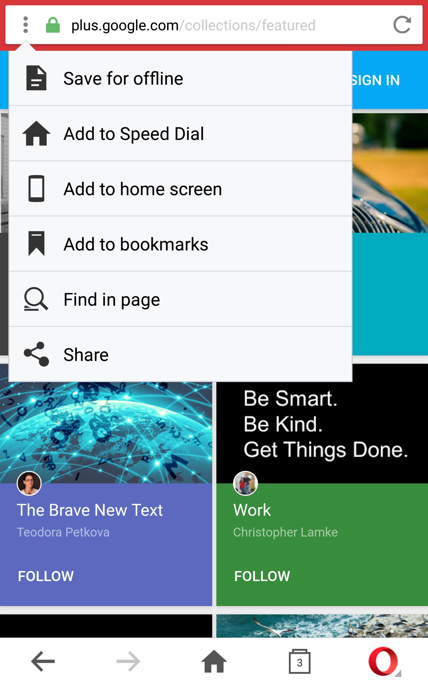 4 ways to save bookmarks in Opera Mini