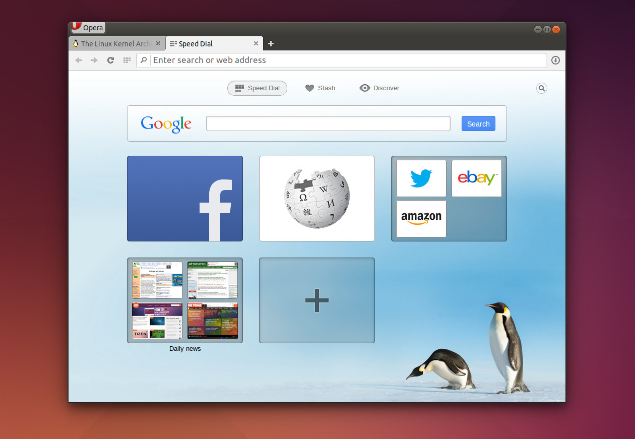 Google themes opera - Opera 24 Linux