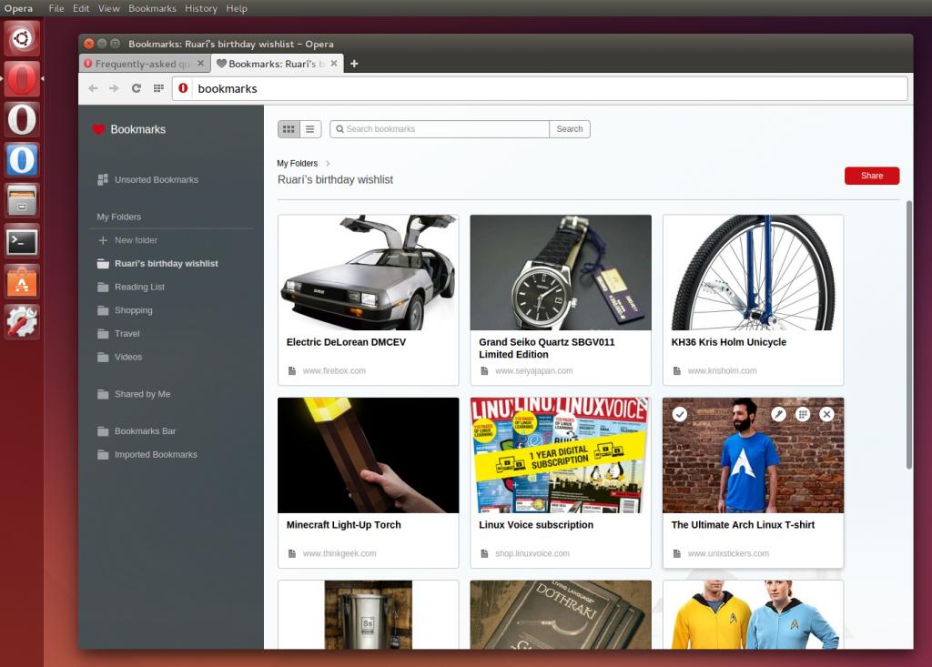 Opera 26 Ubuntu