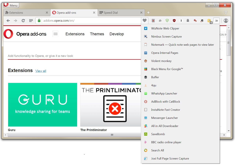 Opera proxy extension