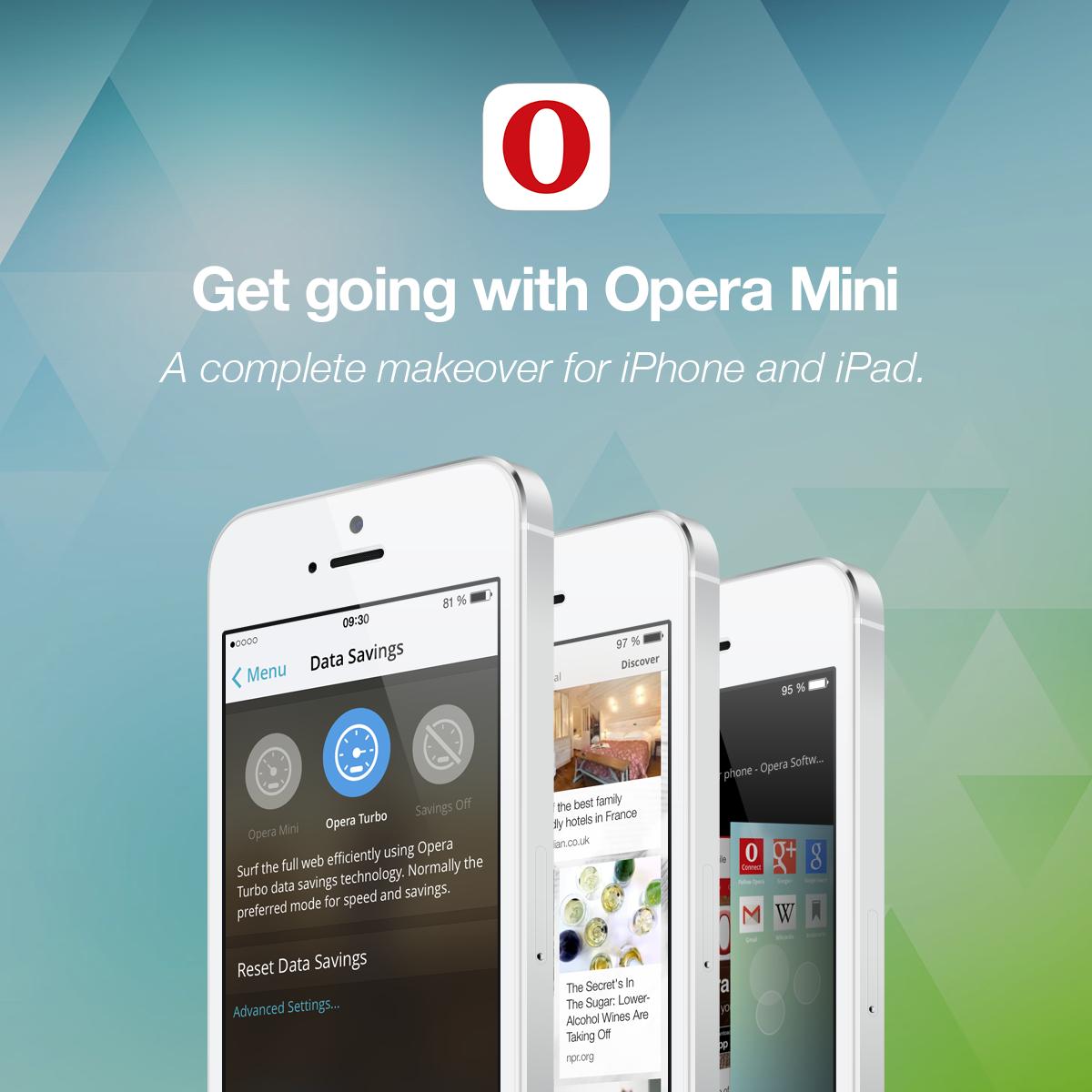 Opera Mini App for iPhone, iPad, and Mac Devices