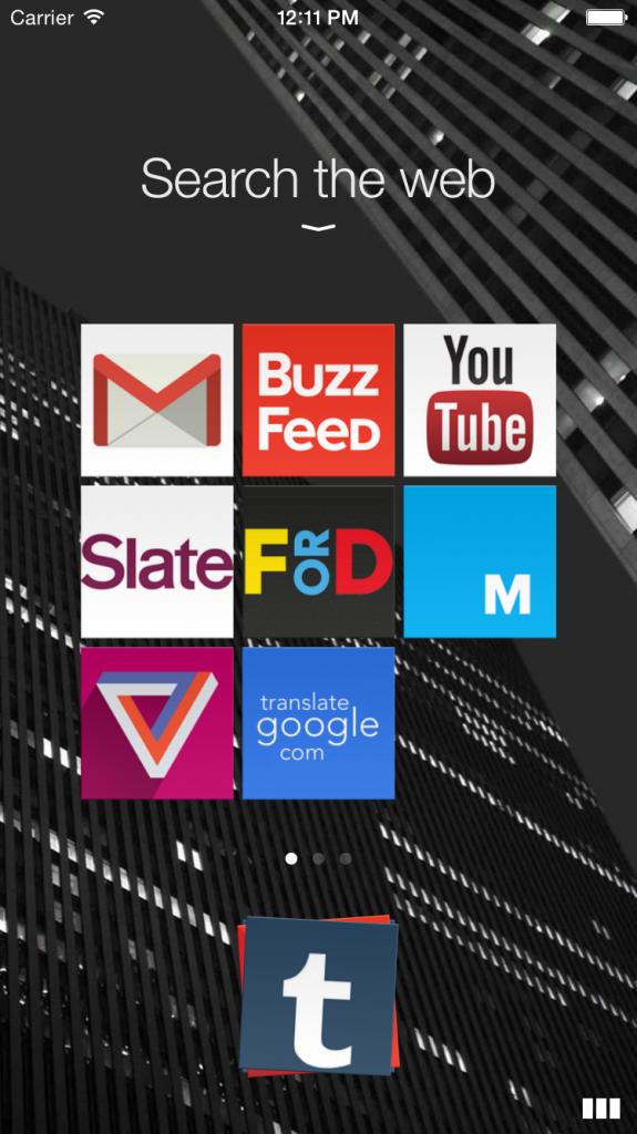 New design for web app icons - iPhone 6 app, Opera Coast