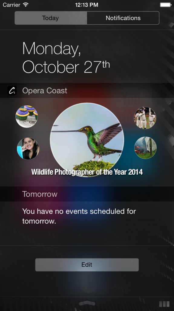 Widget showing latest news.