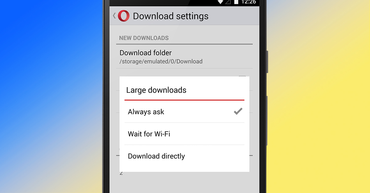 Opera Mini Android Download Large Settings
