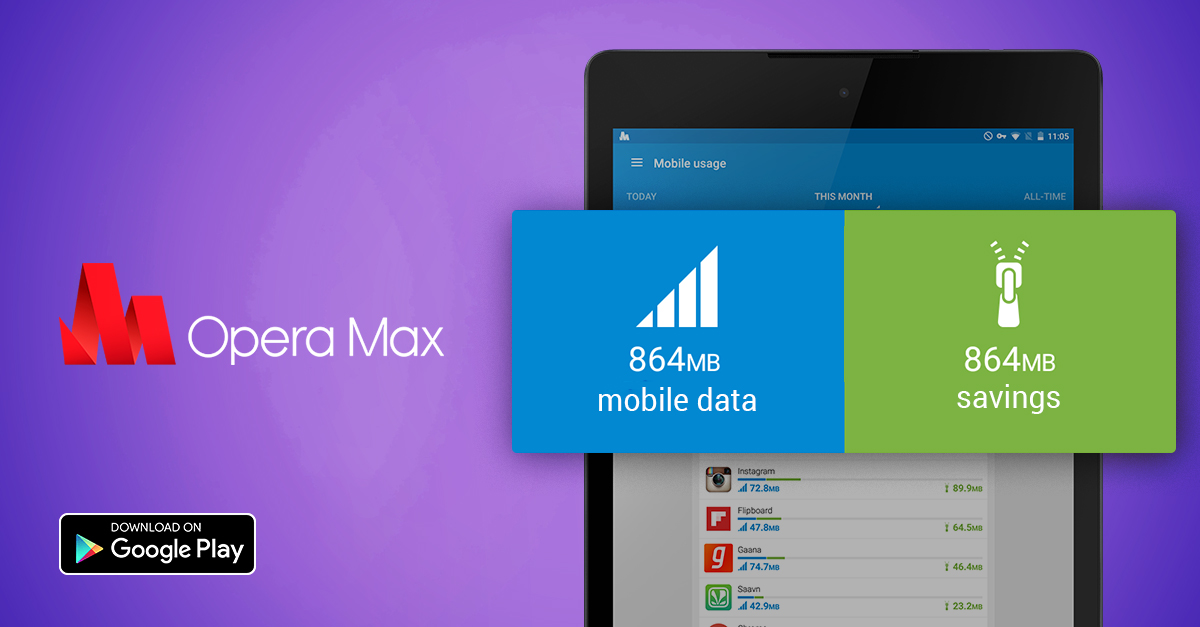 opera max data savings app android manager speed