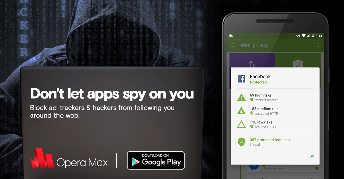 Thumbnail for 'New Opera Max helps make Android apps more private than unprotected iPhone apps'