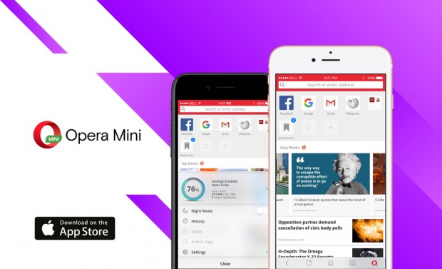 New Opera Mini 16 for IPhone