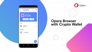 Thumbnail for 'Opera introduces first browser with built-in Crypto Wallet'