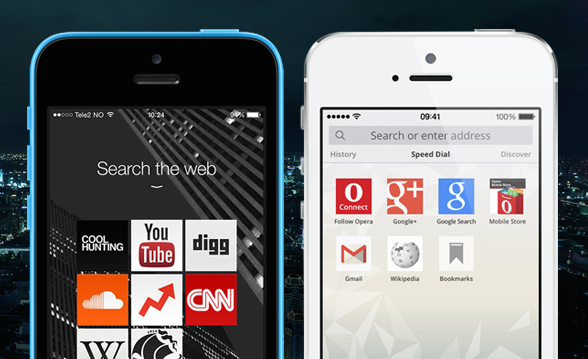 Opera browser for iOS