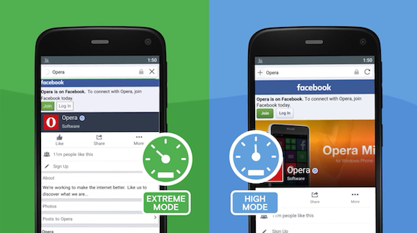 Facebook compression in Opera Mini