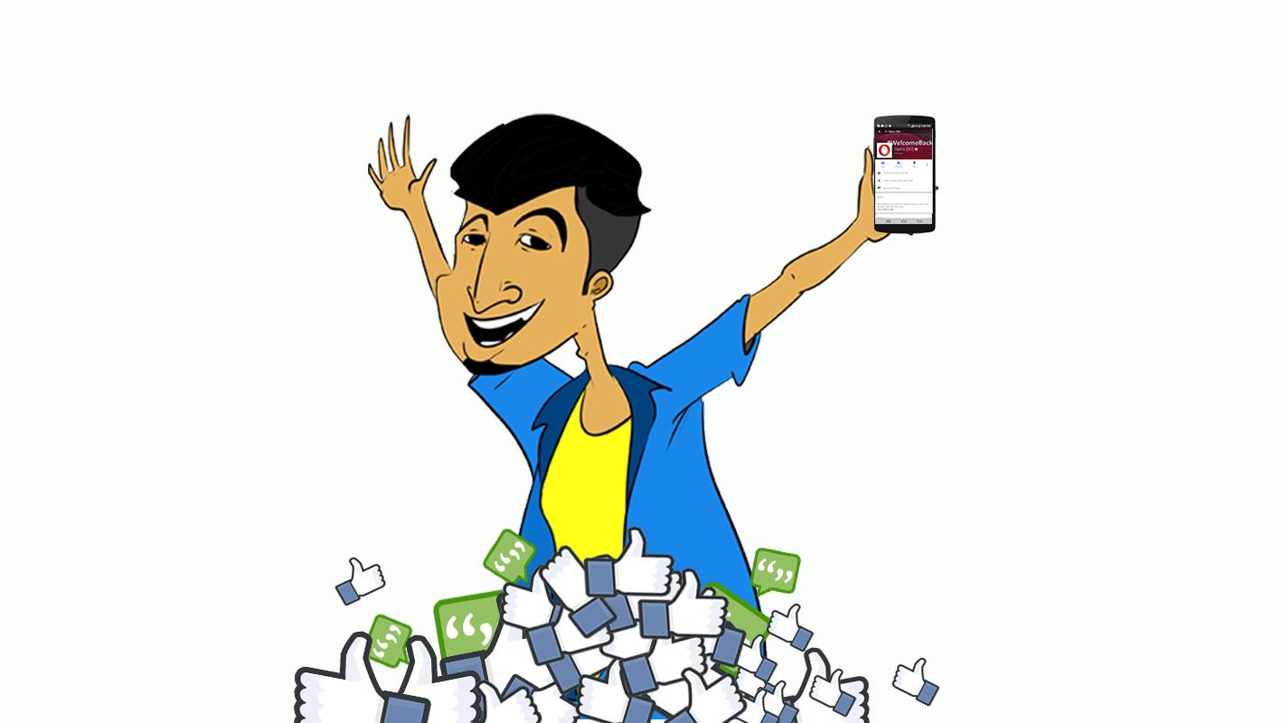 Facebook with Opera Mini