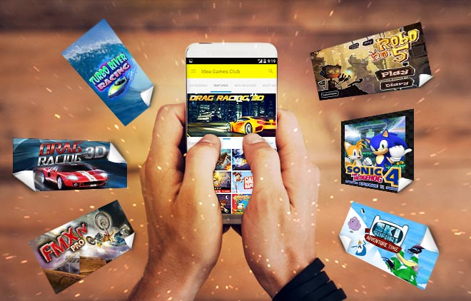 Download games on your android phone from Idea Games Club