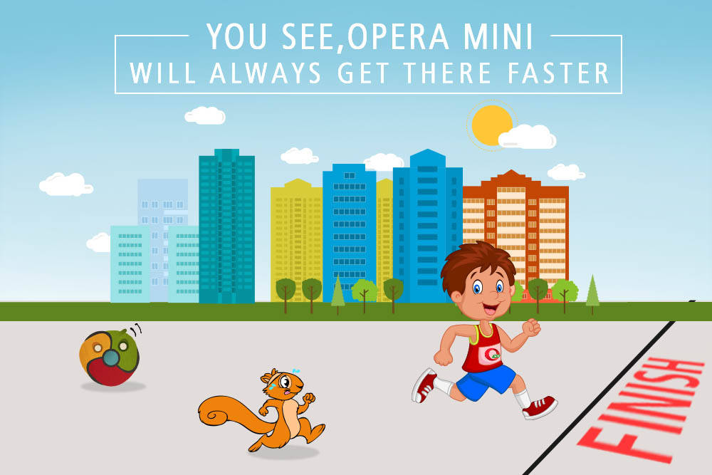 fastest browser in town - Opera Mini