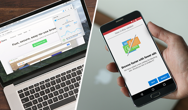 ad blocker feature now available in Opera for Android and Opera for computer